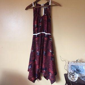 Ecote UO natural printed asymmetrical hem dress XS